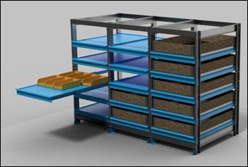 Rayonnage stockage sur tiroir rack tiroirs segema - Rack de stockage brico depot ...